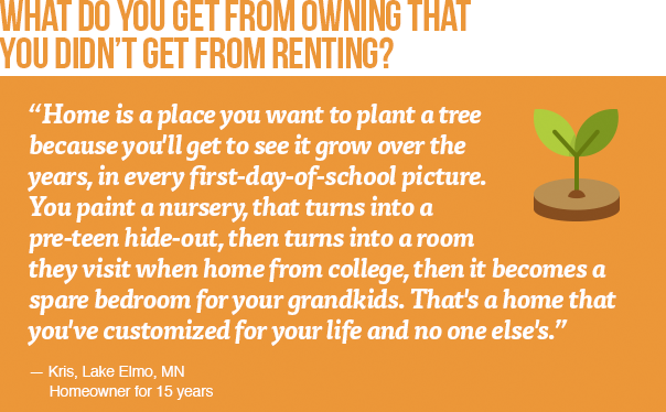 What do you get from owning that you didn't get from renting?